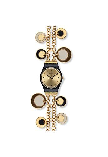 Swatch de Mujer Reloj de Pulsera Oro Holic analógico de Cuarzo