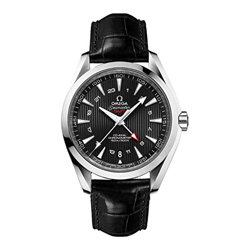 Omega Seamaster Aqua Terra quadrante nero GMT Mens Watch 23113432201001