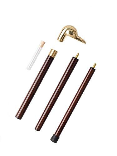 Caminar a pie Mallard bastón de madera palo de bastón de tiro Vial