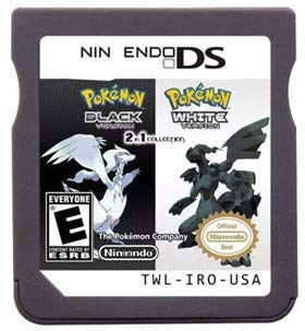 New Pokemon Black White Version Games 2 In 1 USA Reproduction Version For Nintendo DS
