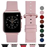 Fullmosa Compatible Watch Bracelet 38mm/40mm(Serie 4) Cuir Véritable, Bracelet Watch Series 4 3 2 1,Nike+ Hermes & Edition,38mm 40mm Rose Doux+Boucle Or Rose