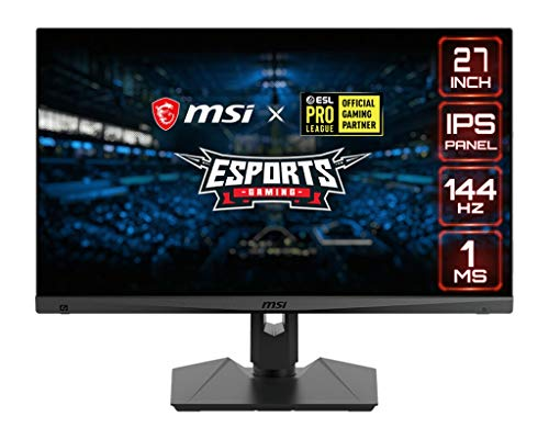 MSI Optix MAG274R Gaming-Monitor 27 Zoll, Display 16:9 Full HD (1920 x 1080), Frequenz 144Hz, Reaktionszeit 1ms, IPS-Panel, Mystic Light RGB, deutsche Version