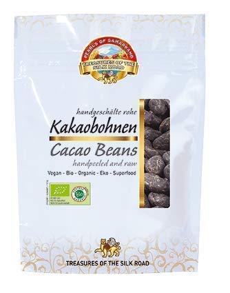 Bio ganze rohe Kakaobohnen geschält 700gr Kakao Cacao Cocoa Bohnen Rohkost ganze Nibs Fairtrade 7x100gr