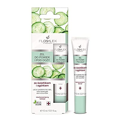 Floslek Pharma Lid & Under Eye Gel with Eyebright & Cucumber 15ml