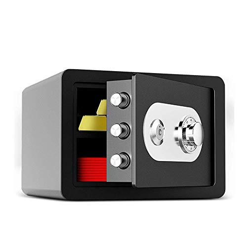 DBSCD Safes Mechanischer Passworttresor, Schrank 25cm mit Schlüssel Mini Invisible Bedside Code Safes Büro Ganzstahl-Diebstahlschutz Schmuck Handbuch Family Safe Safe Kabine