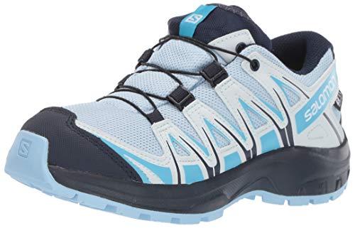 Salomon Kinder XA Pro 3D CSWP J, Trailrunning-Schuhe, Wasserdicht, Blau (Cashmere Blue/Illusion Blue/Cyan Blue), Größe 32