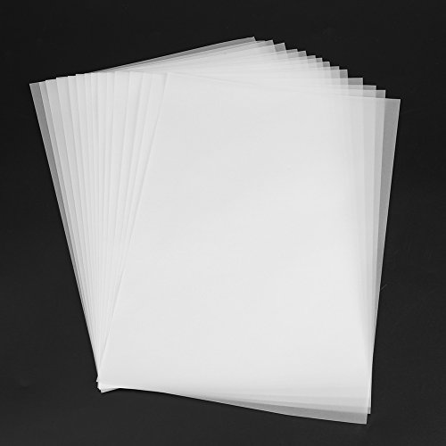 XiangXin Papel transparente translúcido, 100 unidades, papel transparente resistente a la luz para esbozar caligrafía, copiar trabajos de manualidades