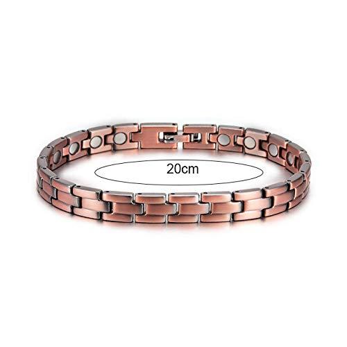 JPDP Vintage Magnetic Bracelet for Men Pure Copper Bangle Health Health-20cm