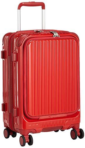 [カーゴ] スーツケース 機内持込サイズ スリムフロントオープン 多機能モデル CAT532LY 保証付 35L 48 cm 3.4kg ブライトレッド