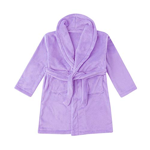 LUCKME Kleinkind Jungen Mädchen Solid Flanell Bademäntel Handtuch Nachthemd Pyjamas...