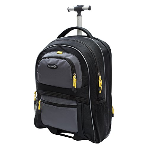 TPRC Sierra Madre Duffel Bag, Black, 19' Rolling Backpack
