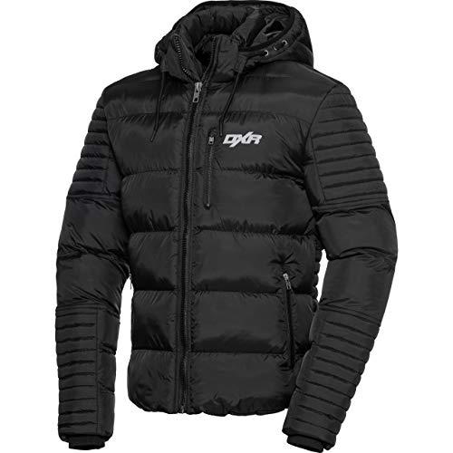 DXR jas tussenjas zomerjas jas gewatteerd jasje 1.0, mannen, casuale/modieus, winter, textiel, zwart, L