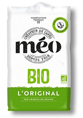Méo - BIO Café en grains pur arabica, bio - 6 paquets de 500g