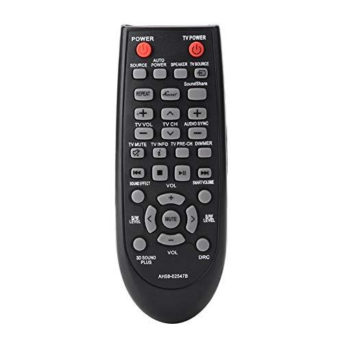 ASHATA vervangende afstandsbediening, geluid bar afstandsbediening remote control, geschikt voor Samsung Sound Bar HWF450ZA HWF450 PSWF450 AH68-02644D-00 zwart