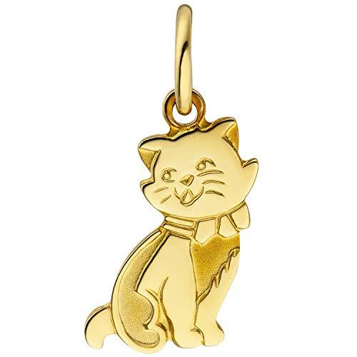JOBO Damen-Anhänger Katze aus 333 Gold