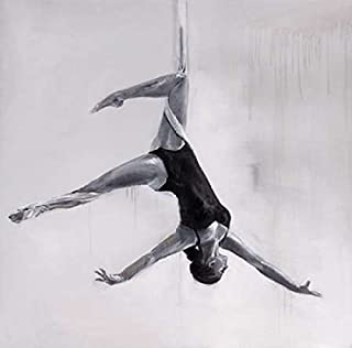 Posterazzi Collection Woman Dancer on Aerial Silks Poster Print by Atelier B Art Studio (12 x 12)