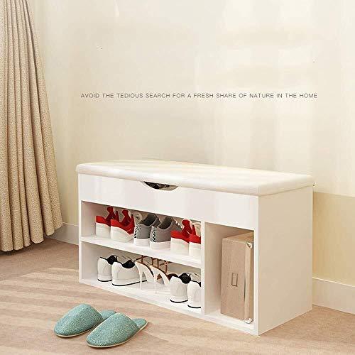 Schoenenrek multi-layer eenvoudige home Milieubescherming MDF + spons gang/bij ingang opslageenheid bank, witte schoen kast is zeer geschikt for thuis. Ruimtebesparend opbergrek