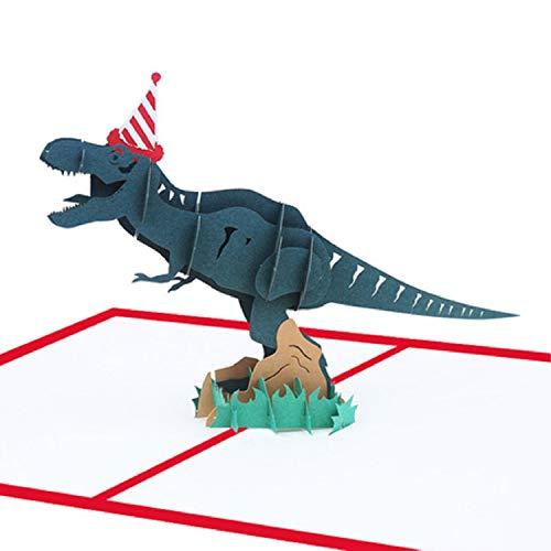 BC Worldwide Ltd hecho a mano 3D pop-up tarjeta de cumpleaños dinosaurio jurásico, antiguo regalo papercraft prehistórico mejor amigo, socio, esposa, marido, hijo hija, niño