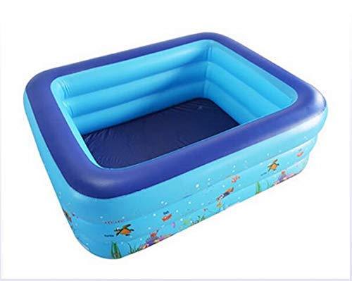 DBMF Baby Familie Aufblasbar Schwimmbad groß Ozeanmuster Verdicken PVC Materialien Erwachsene Badewanne 150 × 110 × 50 cm
