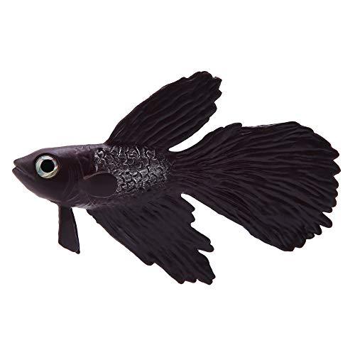 HEEPDD Aquarium nepvis decoratie, grappige kunstmatige siliconen kleine vis ornament vis tank siliconen materiaal ornamenten voor zoetwater zoutwater Aquarium, Brown Betta Fish
