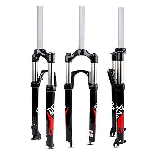 MEILINL Tenedor De Bicicleta Horquilla Delantera MTB De Hidráulica Suspensión Estructura Fuerte Accesorios 26 Pulgadas Tubo Recto Presión De Aceite Resorte 100 Mm De Recorrido