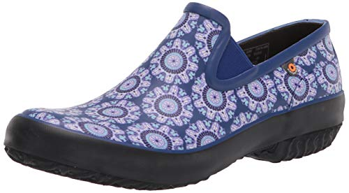 BOGS Women's Patch Slip ON (Roots Studio) Rain Shoe, Juned-Blue, 9