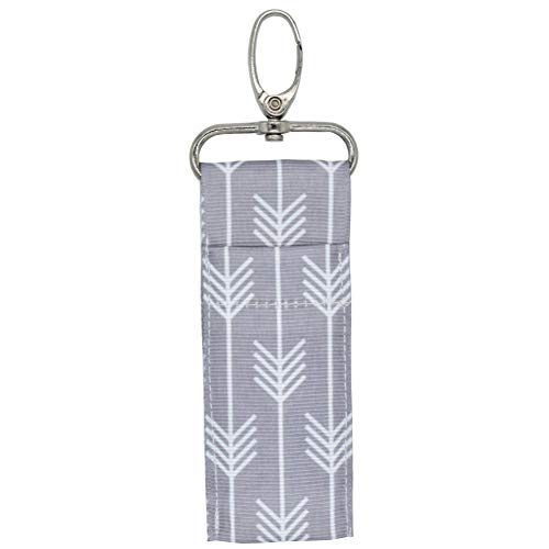 Support de tissu pour baume à lèvres portable, sac à bandoulière pour sangle de poche, support de rouge à lèvres avec porte-clés pour homme femme