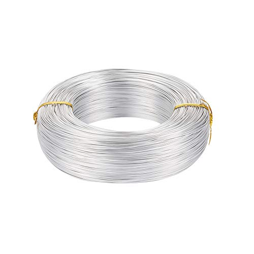 Pandahall 984 Feet Silver Aluminum Craft Wire 20 Gauge Flexible Metal Wire for Jewelry Making