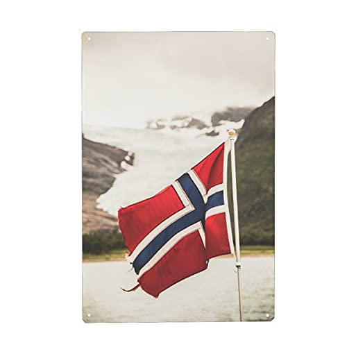 artboxONE Metall-Poster 20x30 cm Reise Let's go Norway von Künstler Sebastian Worm