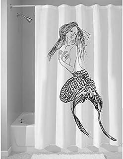 Right Canvas White/Black 180cm x 200cm Shower Curtain - RG138NPIC00002