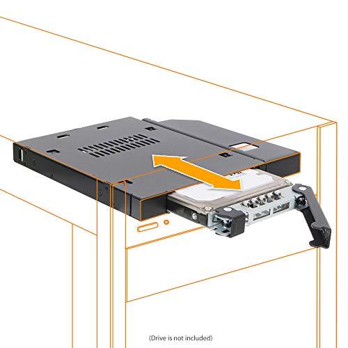 ICY DOCK SATA/SAS Hot Swap Wechselrahmen für 2,5 Zoll (6,4cm) SSD/HDD - Slim-ODD/Slim-FDD Vollmetall ToughArmor MB411SPO-B
