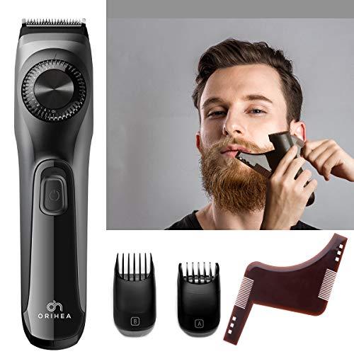 Barttrimmer Herren OriHea Verstellbarer Bartschneider mit Schwarzem Bartformungs-und Styling-Werkzeug,All-in-One-Bartschneidemaschine für Männer mit Li-Ionen-Akku,Schnellladung Kurzhaarschneider