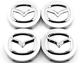 JXHDKJ 4pcs W057 57mm Car Styling Accessories Emblem Badge Sticker Wheel Hub Caps Centre Cover Apply to Mazda 2 3 6 ATENZA AXELA CX-5 CX-7 CX-8