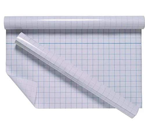 Película transparente para cubrir libros, parte trasera adhesiva transparente de plástico de 40 cm x 1 m