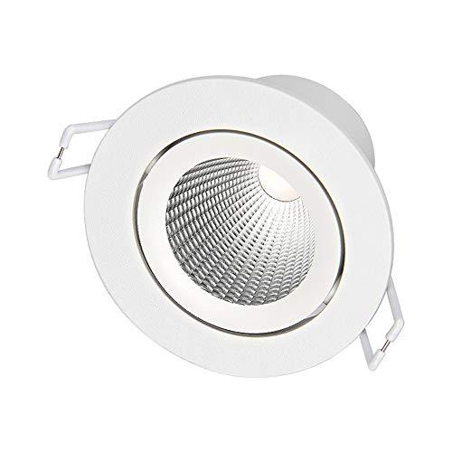 Rekaf Hidden LED Spotlight Empotrado Sala de estar Techo Luz de techo Tienda de ropa Escalera Cocina Cuarto de baño Oficina Plafón Plano Luz Luz Redonda Lámparas 38 ° Angulo de iluminación ajustable g