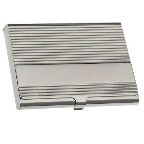 Silberkanne - Porta biglietti da visita, 9,5 x 6 cm, argento placcato in argento, lavorazione premium