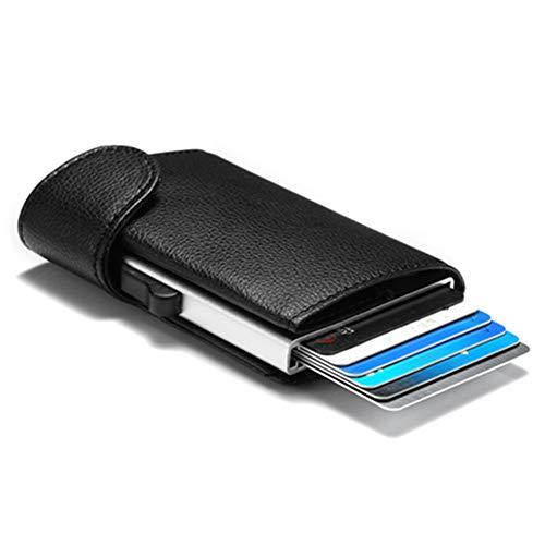 ZBHGF Carbon Fibre Portemonnee Slim Money Clip Minimalistische RFID Blokkeren Voorpakket Slim Portemonnee Business Card Houder Billfolds voor Mannen En Vrouwen