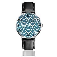 波 腕時計 超薄型 軽量 ステンレス製 ブレスレット 40mm 防水 男女兼用