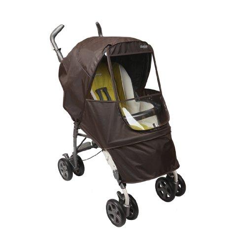 Manito Elegance Alpha Kinderwagen-Wetterschutz/Regenschutz, Schokoladenbraun