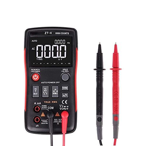 LKK-KK ZT-X de verdadero valor eficaz AUTO rango multímetro digital AC/DC amperímetro del voltímetro del 9999 Condes NCV y RETENER LCD de retroiluminación de la pantalla