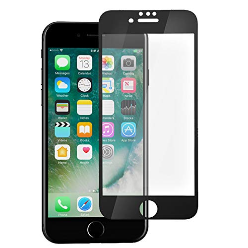 Muvit Tiger Glass Plus - Cristal templado curvado con superficie adherente completa + aplicador - Compatible con iPhone 6/7/8