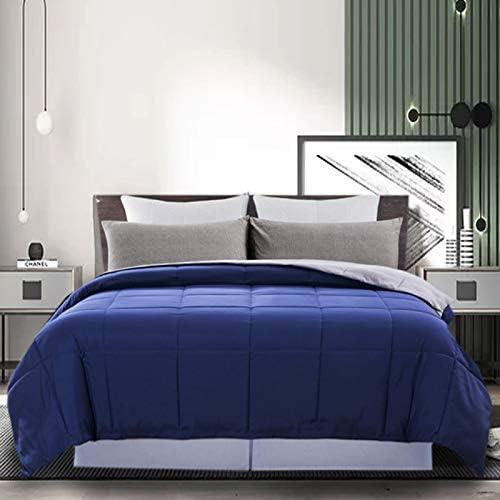 DOWNCOOL Reversible Down Alternative Comforter All Season Ultra Soft Duvet Insert 4 Loops Box product image