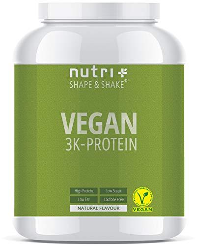 VEGANES EIWEIßPULVER Neutral ohne Süßungsmittel - 85,8{4cc0236aa5c16fe4565d3636ebd6f5147f6de88270e2e373efae65089ebefae1} Eiweiß - Nutri-Plus Vegan Pulver 1kg ungesüßt - Natural Proteinpulver unflavored - natürlich auch zum Kochen und Backen