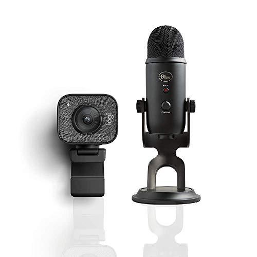 webcam 4k logitech Logitech StreamCam per Streaming Live e Creazione di Contenuti + Blue Microphones Yeti Professional Multi-Pattern USB Mic for Recording and Streaming Microfono USB
