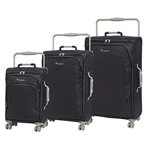 it luggage 3 Piece Set of World's Lightest New York 8 Wheel Super Lightweight Suitcases Suitcase, 80 cm, 174 liters,Magnet