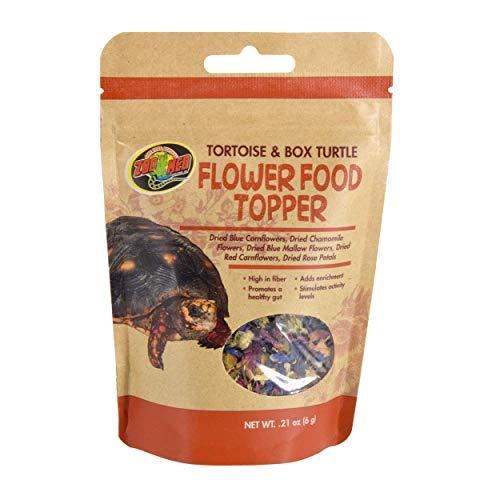 Zoo Med Tortoise & Box Turtle Flower Food Topper 0.21 oz - Pack of 4