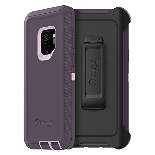 OtterBox DEFENDER SERIES Case for Samsung Galaxy S9 - Frustration Free Packaging - PURPLE NEBULA (WINSOME ORCHID/NIGHT PURPLE)