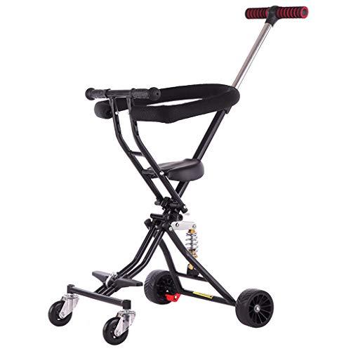 Baby carriage Passeggino Portatile a 4 Ruote con Freno Doppio Passeggino Pieghevole per Bambini Passeggino Regolabile Sistema di Viaggio a Corsa Singola (da 12 Mesi a 6 Anni)
