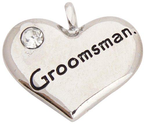 Breloque Coeur pour Mariage 'Groomsman' (garçon d'honneur)