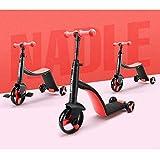 SZNWJ Ygqtbc 3-en-1 Convertible Triciclo, Equilibrio Bicicletas, Kick Scooter for niños y niños pequeños a la Edad de 2, 3, 4, 5 años |Convierte en Triciclo 3 Ruedas Scooter for niños y niñas
